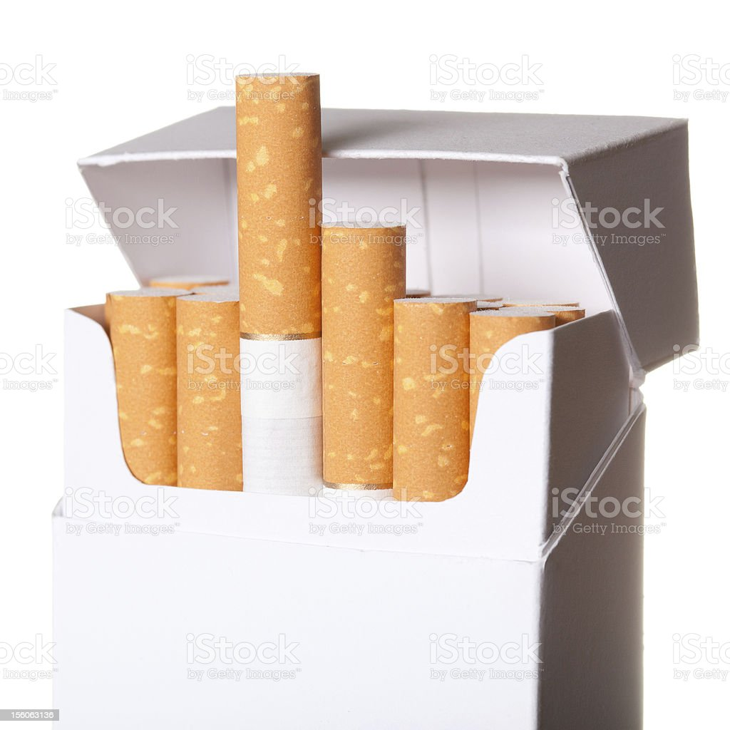 Pack of cigarettes isolated on white background royalty-free stock photo