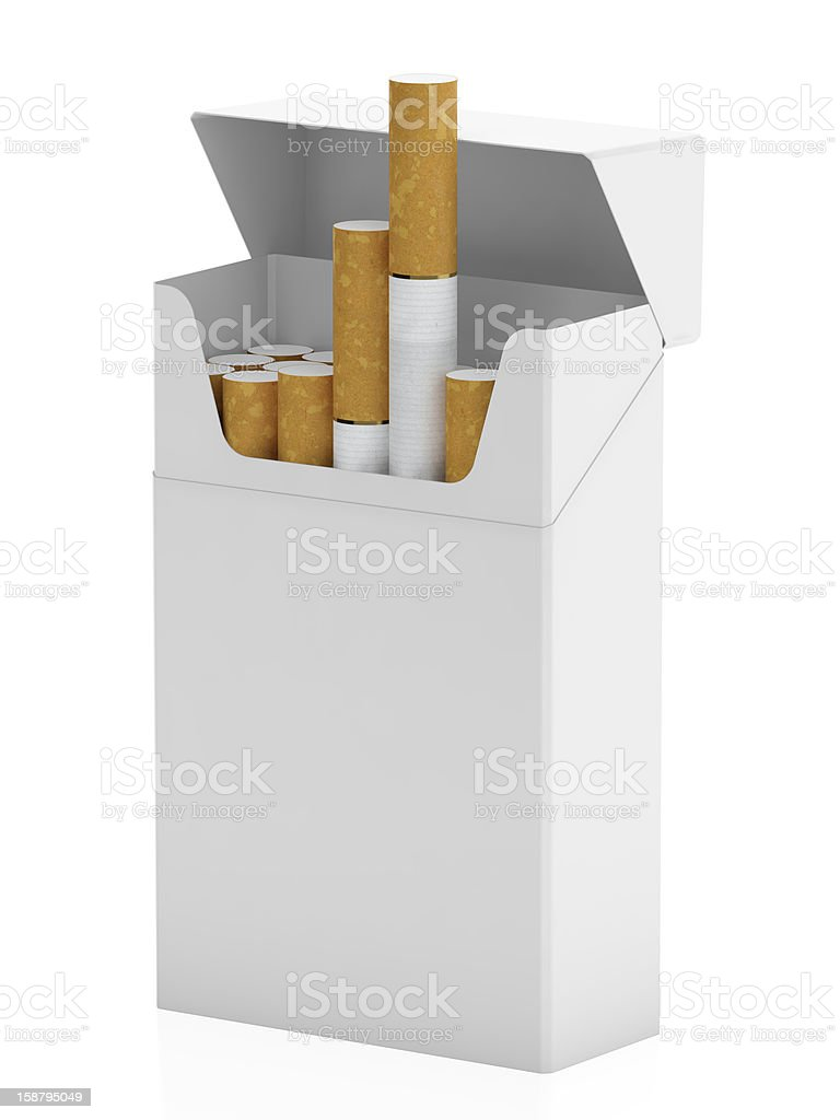 Pack of cigarettes royalty-free stock photo