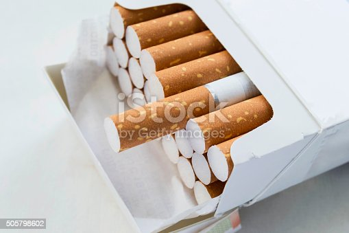 istock Pack of cigarettes 505798602
