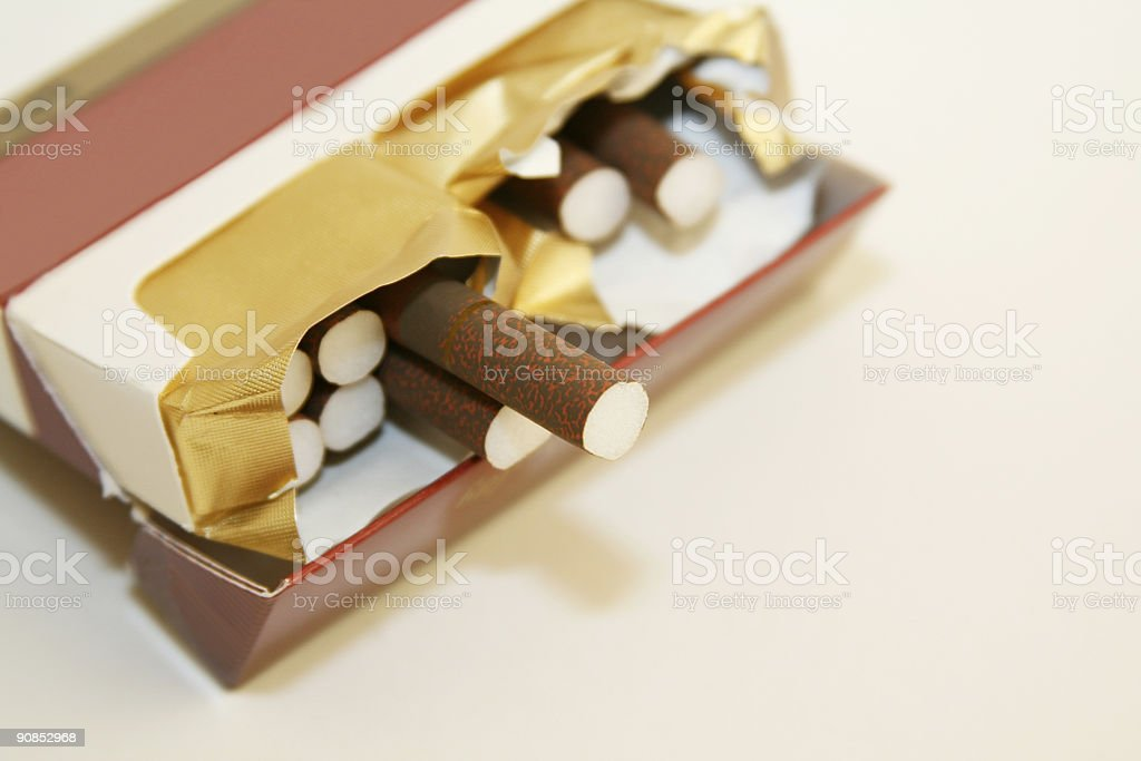 Pack of Clove Cigarettes royalty-free stock photo