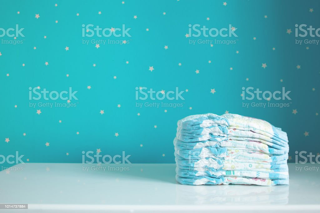 A pack of diapers stock photo