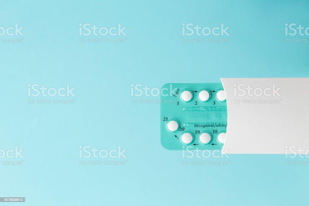 Embalagem de pílulas contraceptivas - foto de acervo