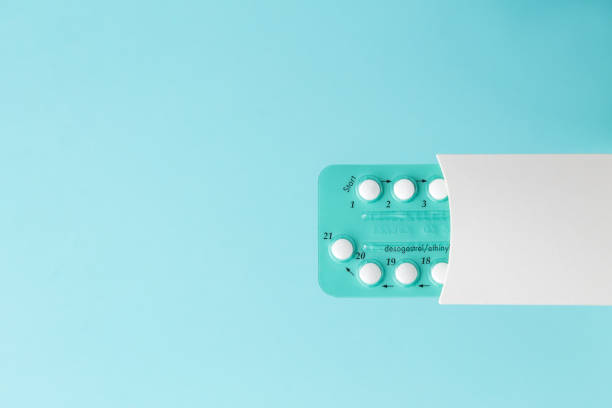 Pack of oral contraceptive pills stock photo