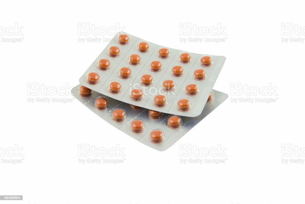 Pack di pillole isolato rosso foto stock royalty-free