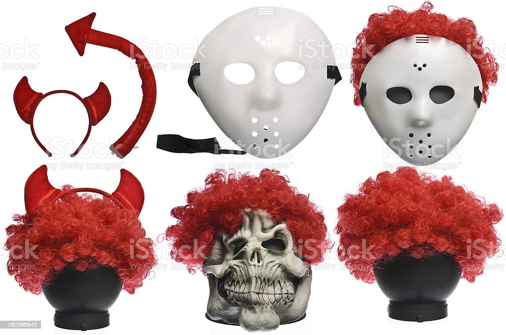 Pack of Various Halloween Costumes royalty-free stock photo