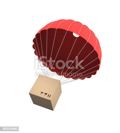istock Package being delivered via balloon 93535960