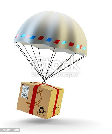 istock Package delivery by air concept 488212358