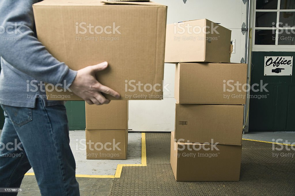 Package delivery royalty-free stock photo