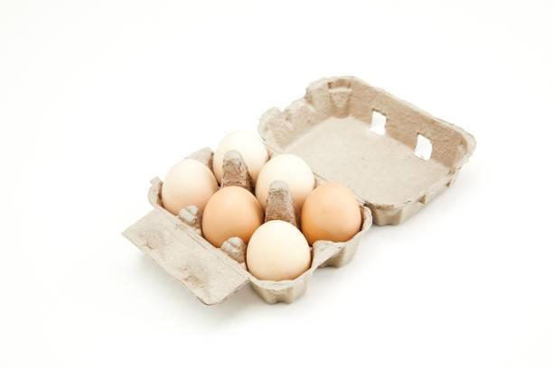 paket-eier - eierverpackung stock-fotos und bilder