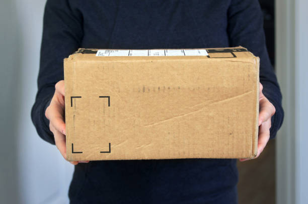 Package home delivery stock photo