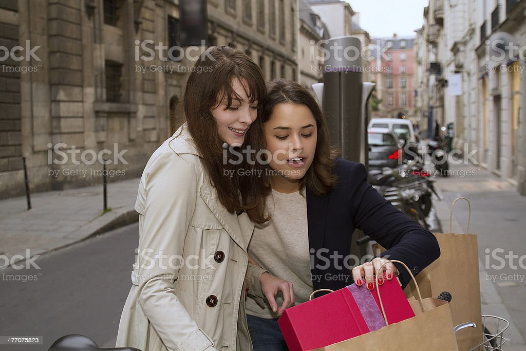 Package presents stock photo