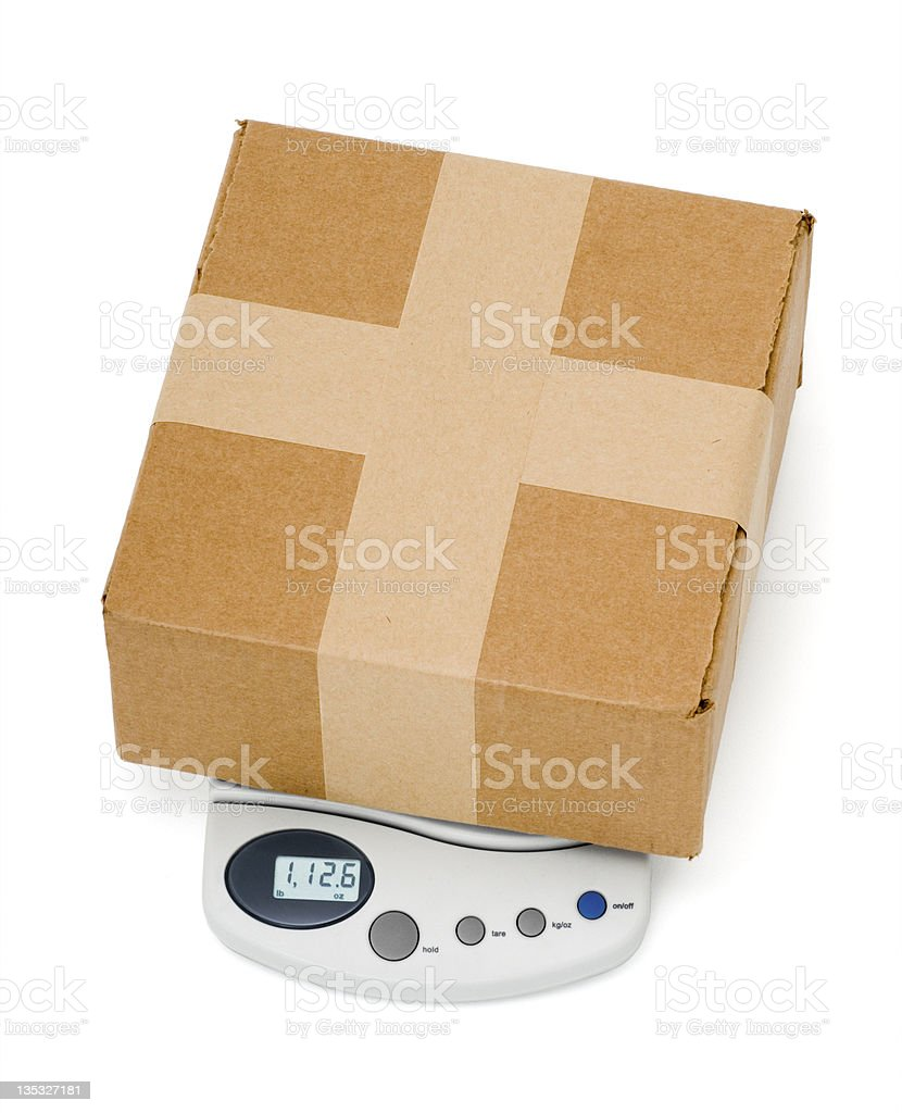 Package & Scale stock photo
