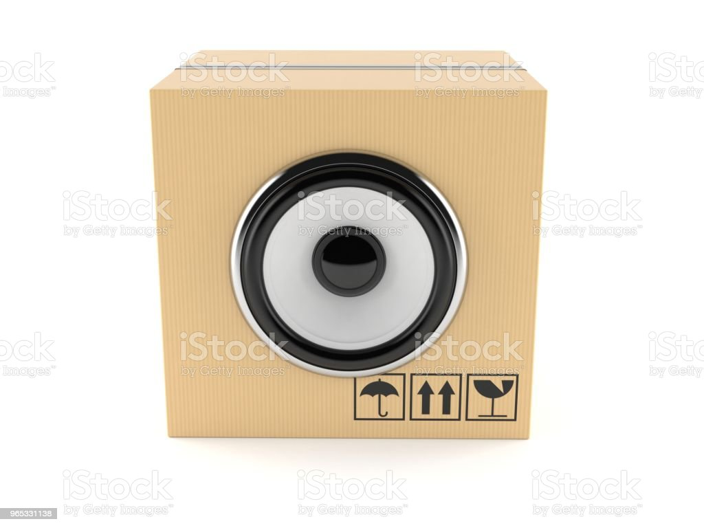 帶音訊揚聲器的包 - 免版稅剪裁圖圖庫照片