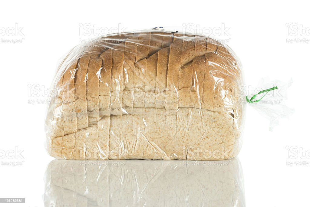 Packaged bread stock photo