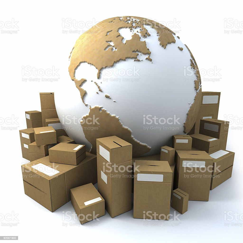 packaged world2 royalty-free stock photo