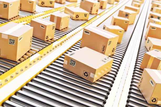 包裹遞送、包裝服務和包裹運輸系統概念 - 船運 個照片及圖片檔