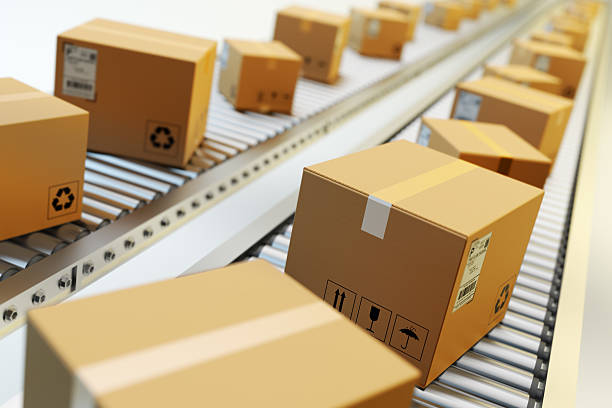 Packages delivery, packaging service and parcels transportation system concept - Photo