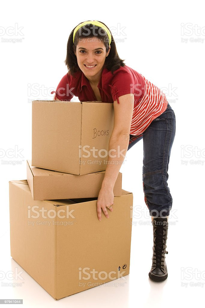 packages for house moving royalty-free stock photo