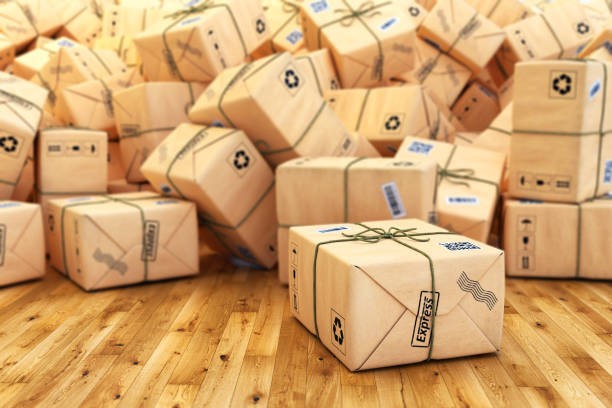 Paketversand, Frachttransport, Logistik und Lieferkonzept – Foto