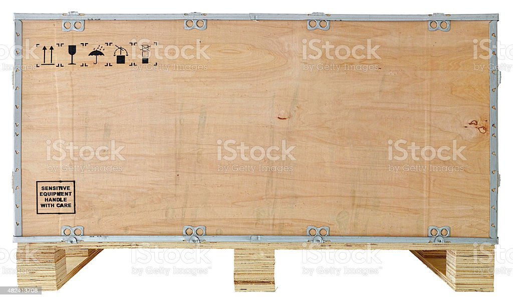 Packaging crate isolated on white. stock photo