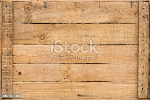 Packaging crate wooden panel background.