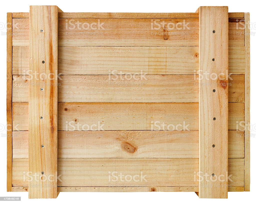 Packaging crate wooden panel background. stock photo