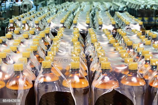 istock Packaging of plastic bottles 654942618