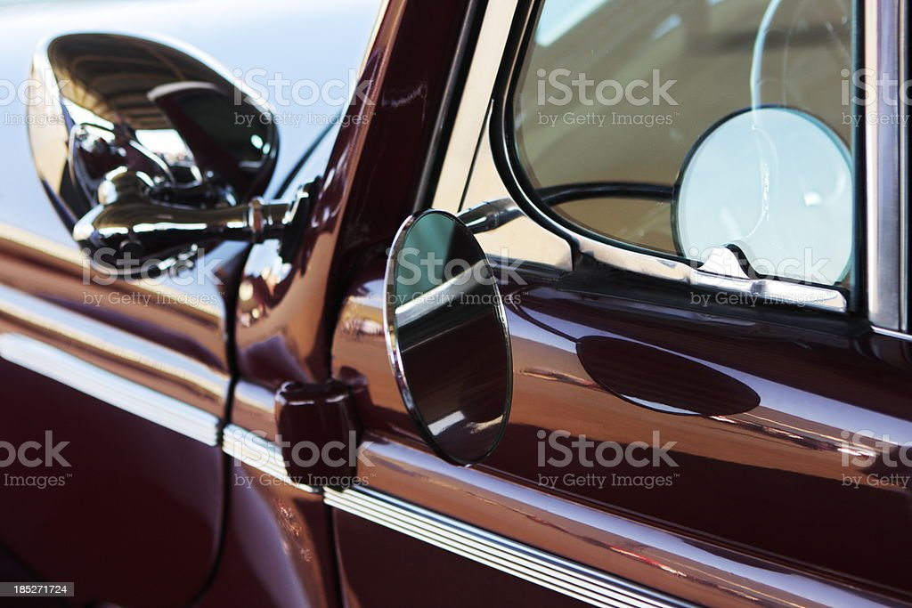 Packard Mirror Classic Car 1940s royalty-free stock photo