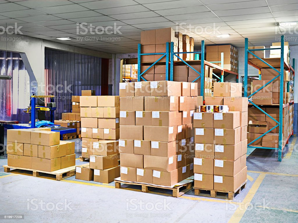 Packed and ready for shipping stock photo