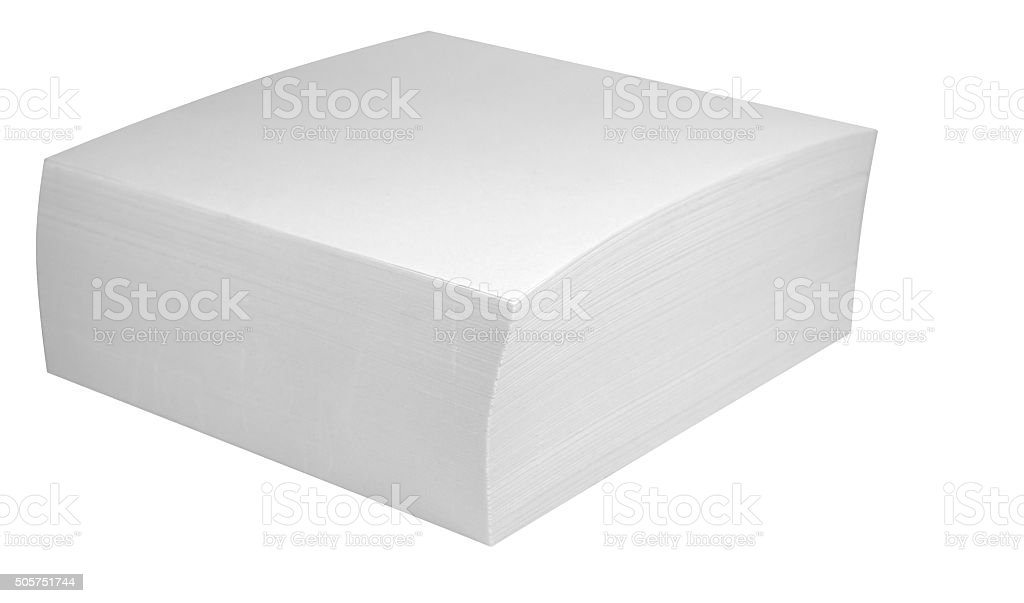 Packed block of note paper stock photo