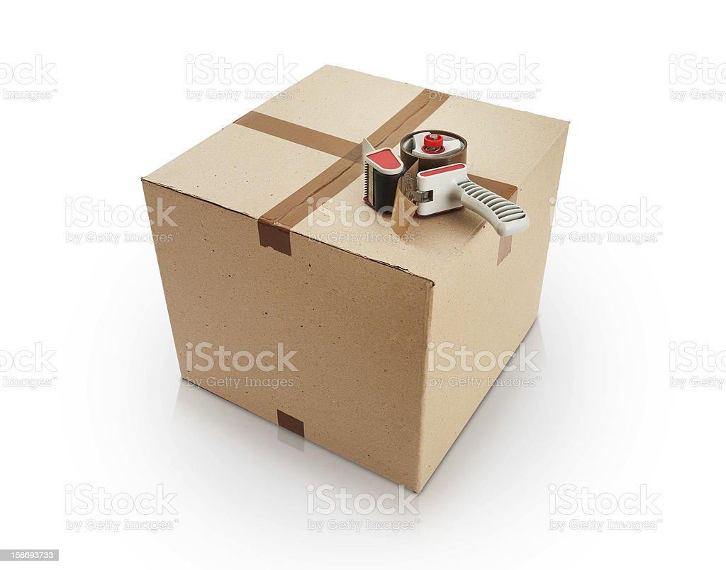 Packed box royalty-free stock photo