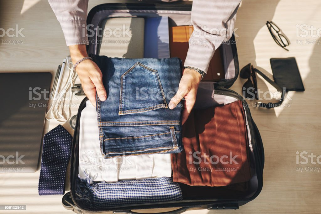 Packed clothes stock photo