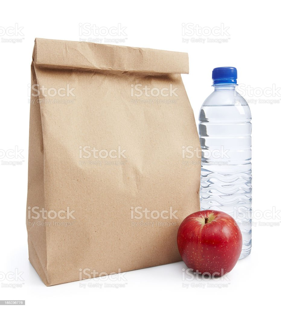packed lunch royalty-free stock photo