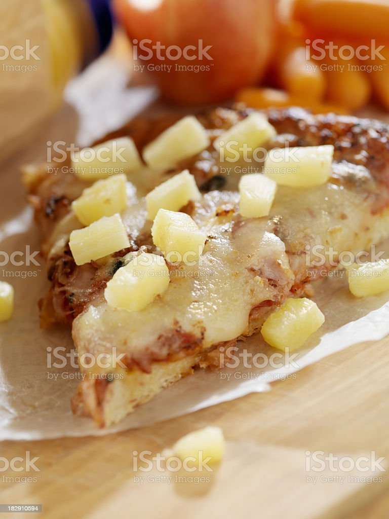 Packed Lunch with Leftover Pizza royalty-free stock photo