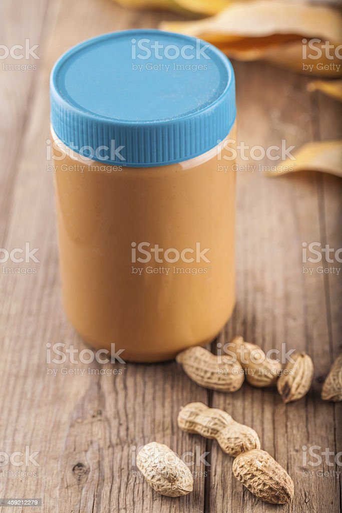 packed peanuts butter stock photo
