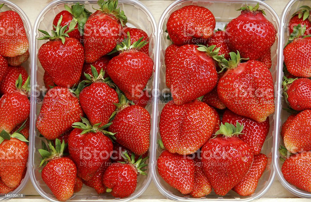 Packed Strawberries. I royalty-free stock photo