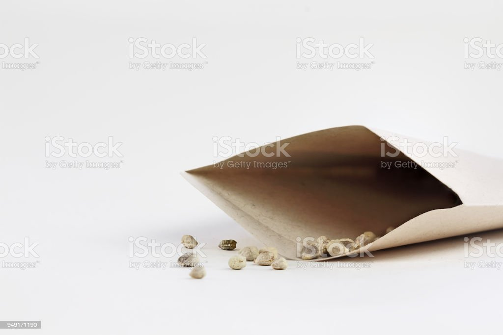 Packet of Seeds stock photo
