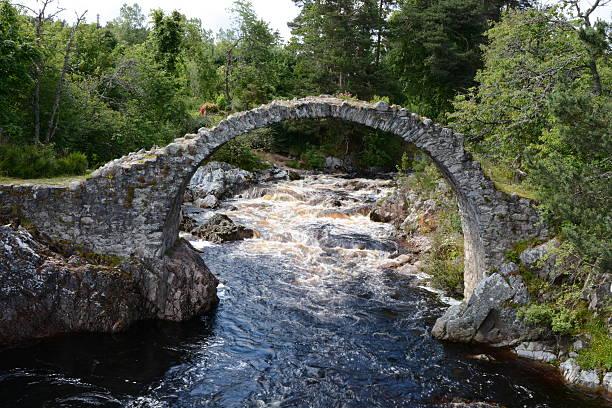 Packhorse Bridge Carrbridge – Blurred Water stock photo