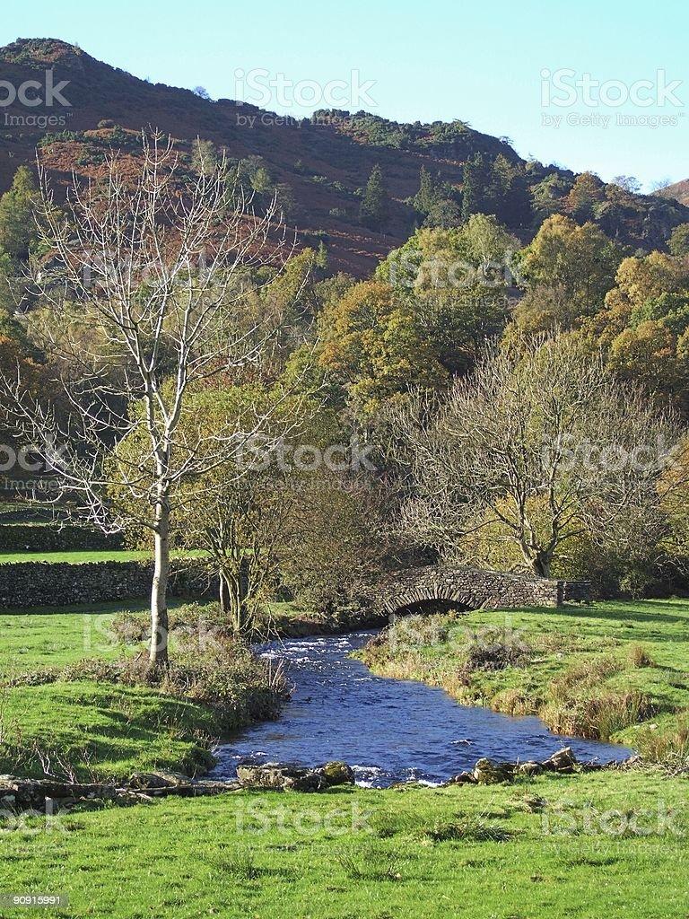 Packhorse bridge, Easdale royalty-free stock photo