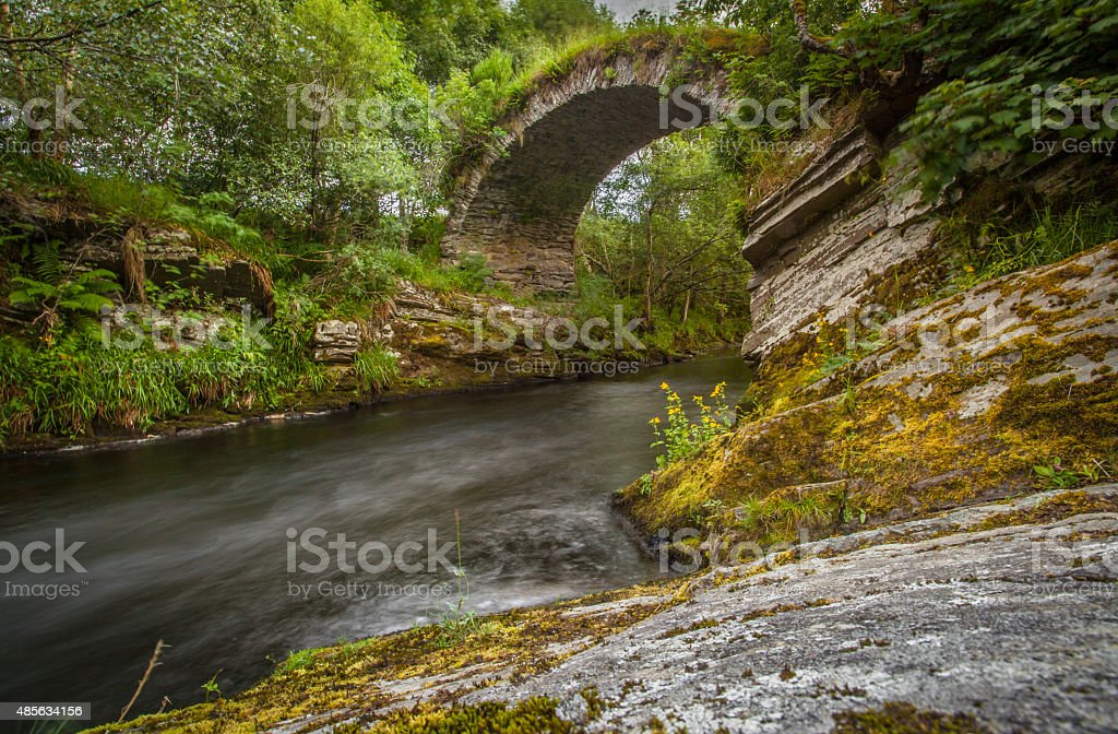 Packhorse Bridge Glenlivet Ballindalloch stock photo