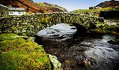 packhorse bridge lake district national park cumbria england uk