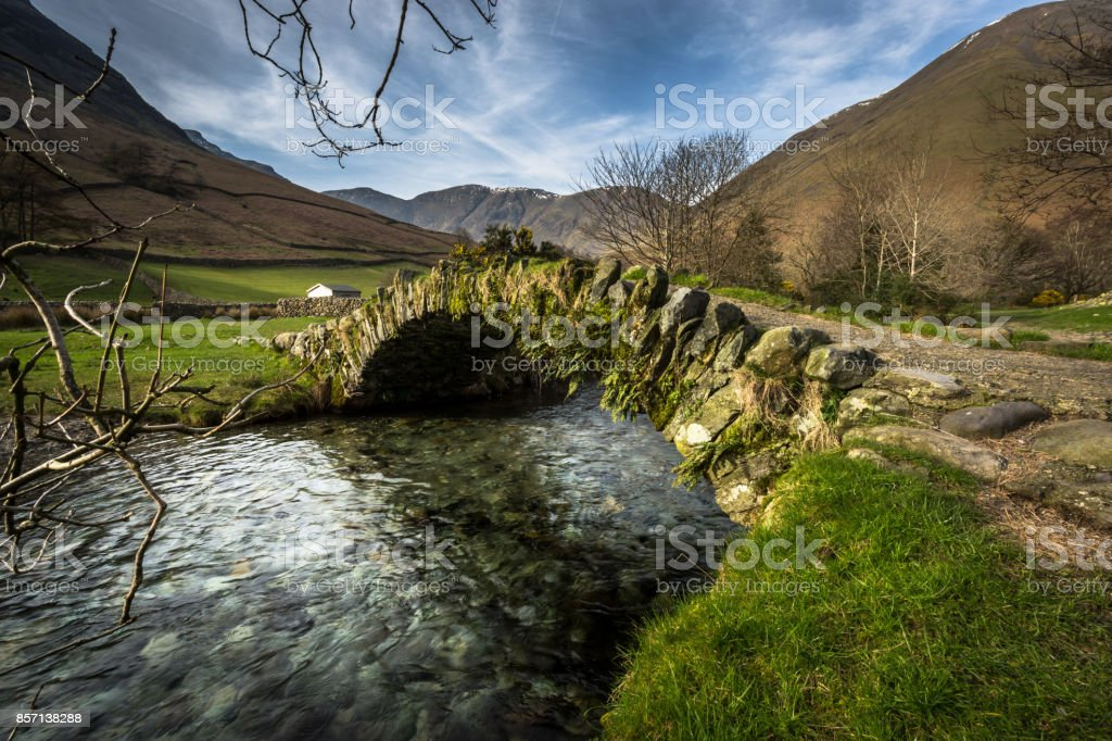 Packhorse Bridge - Wasdale - Lake District stock photo