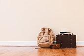 旅行のためのスーツケースをパッキング
