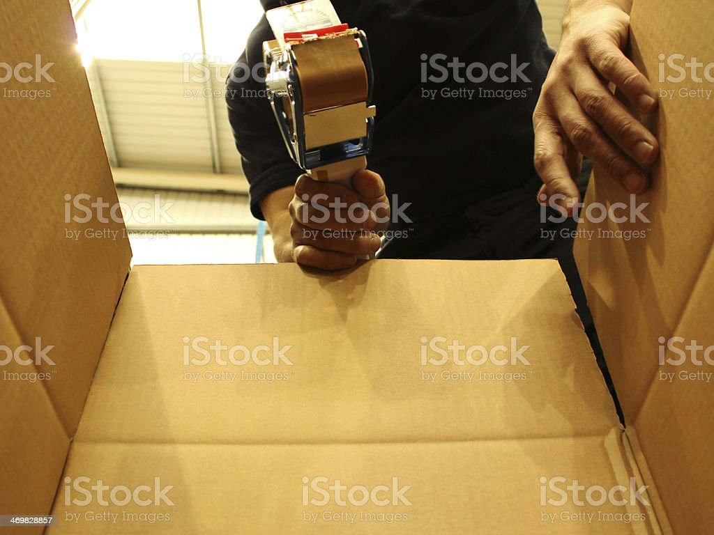 Packing Boxes stock photo