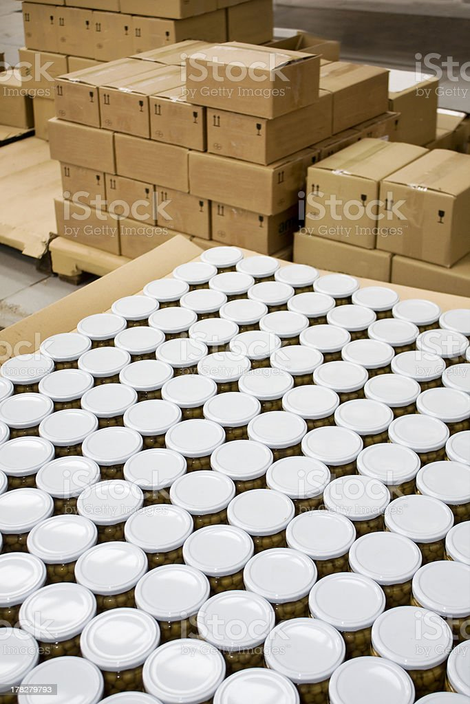 Packing containers stock photo