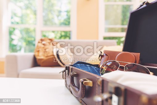 istock Packing for a trip 828122368