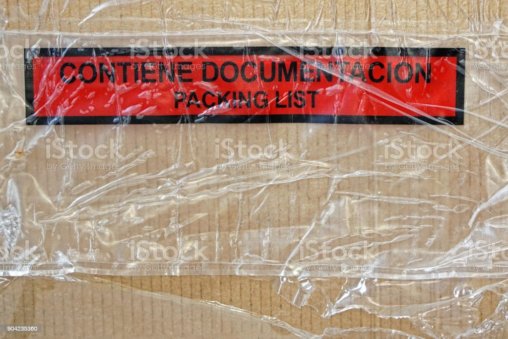 Box package documentation packing list