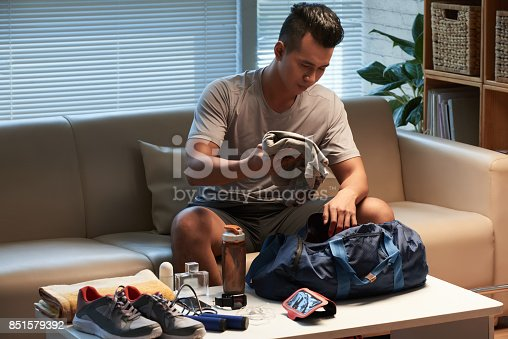 istock Packing sports bag 851579392