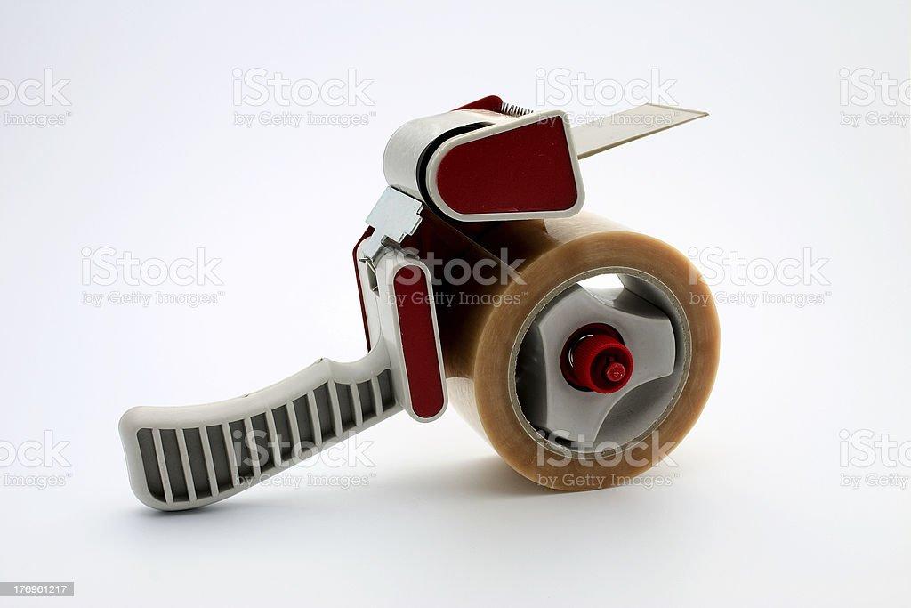 Packing tape dispenser stock photo