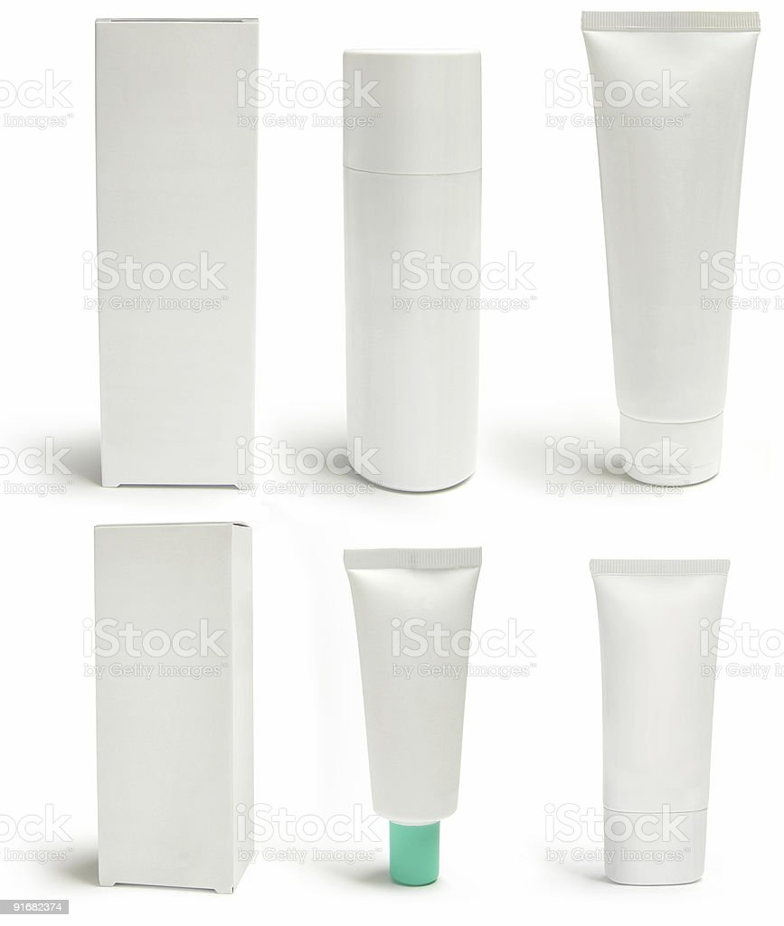 packs and containers, blank royalty-free stock photo